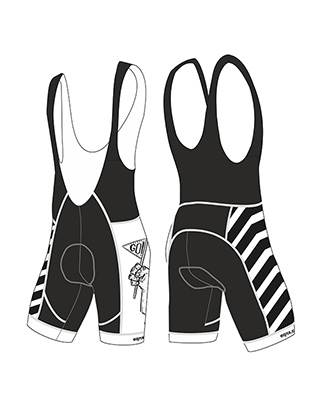 "Cycling bib-shorts ""stripe"""